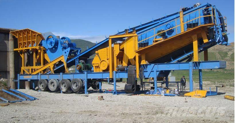 Constmach 150 tph - MOBILE JAW + IMPACT CRUSHING PLANT - 2 Y