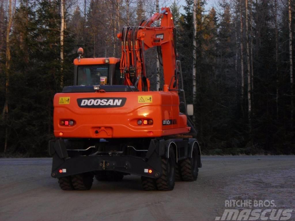 Doosan DX 140 W-3, Uthyres