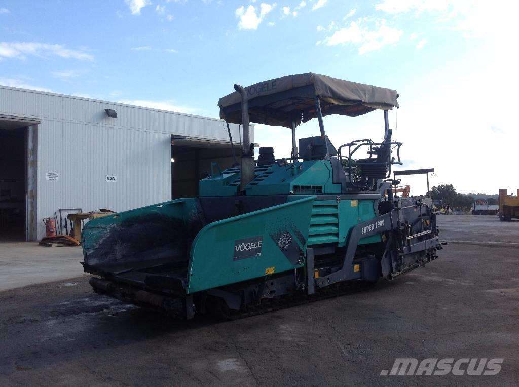 Used Vögele SUPER 1900 asphalt pavers Year: 2005 Price ...