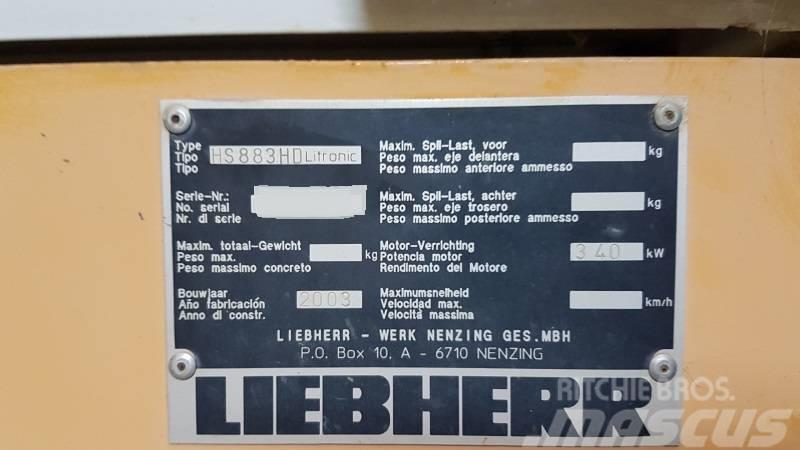 Liebherr HS 883 HD, 2003, Bangående Kranar