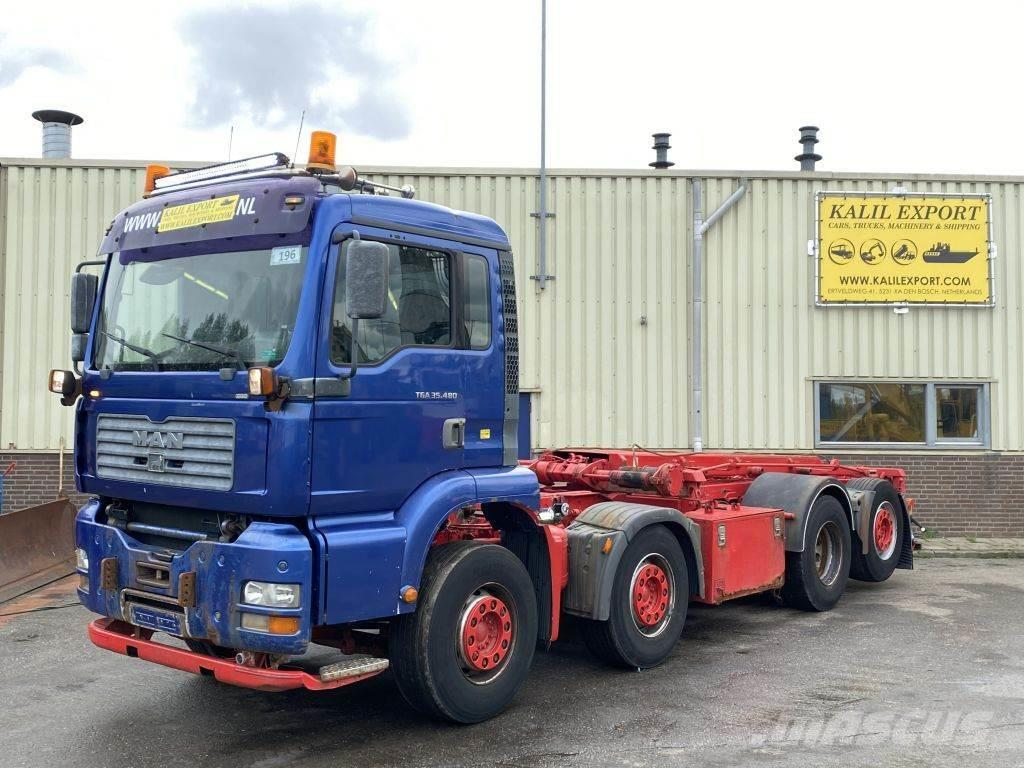 MAN 35.480 TGA 8x2 Manuel Gearbox Container Cable Good