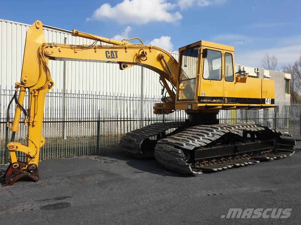 Caterpillar 205 B LC graafmachine excavator rusp moeraskraan