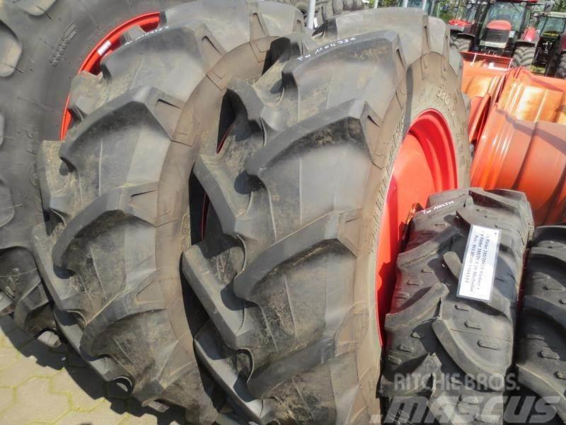 Michelin 4x Komplettreifen 2x 280/70R20 2x 380/70R28
