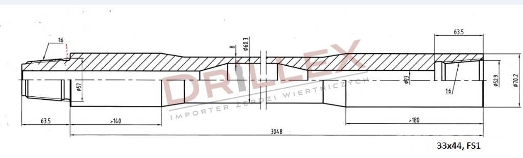Vermeer D33x44,D36x50 FS1 3m Drill pipes, żerdzie