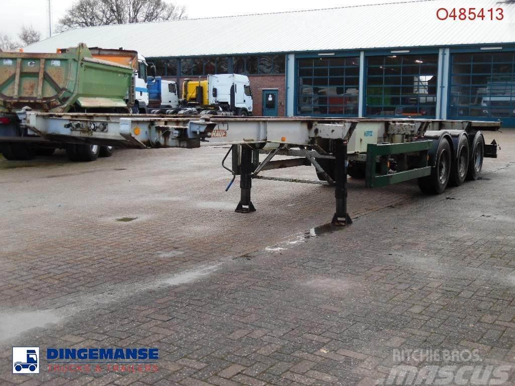 Fruehauf 3-axle container trailer 20-30-40 ft