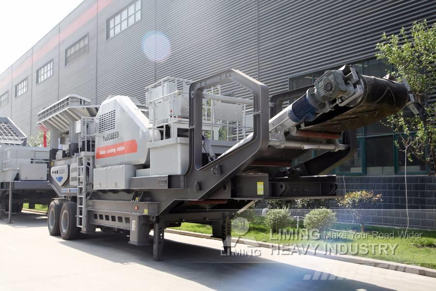Liming 150~500 TPH Mobile Primary Jaw Crusher