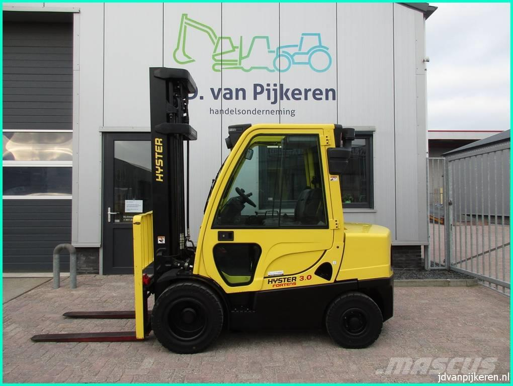 Hyster TOP! H3.0FT diesel sideshift 4x hydr! 2018 624uur!