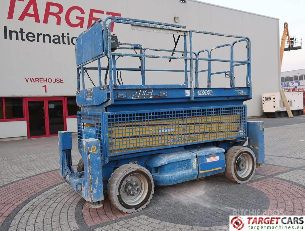 JLG M3369 Bi-Fuel Electr/Diesel 4x4 Scissor Lift 12M