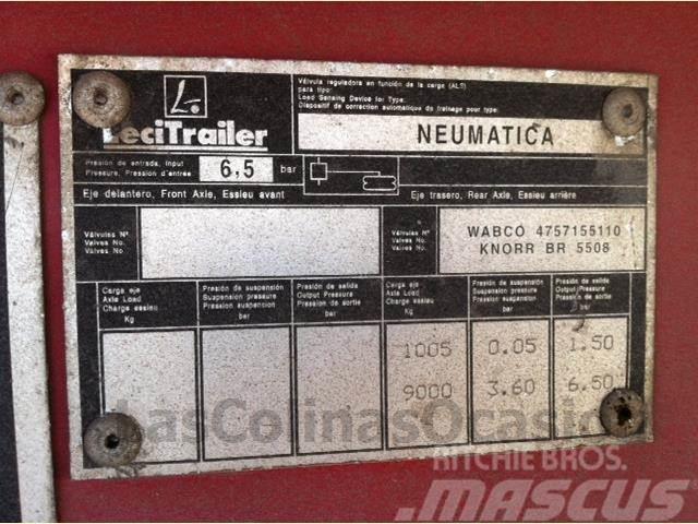 Lecitrailer SR3ESA, 1999, Kapelltrailer