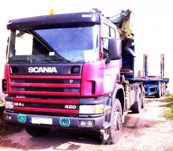 Scania P124 +Loglift Super GZ 75 +KRONE SDP24
