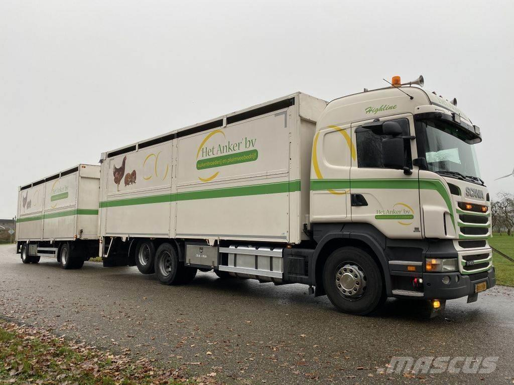 Scania R 400 A 6X2 POULTRY TRUCKCOMBINATION WITH TRAILER