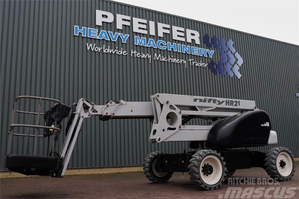 Niftylift HR21DE 2WD Bi-Energy, 20.8m Working Height, 13m re
