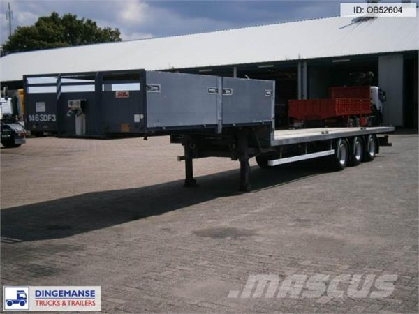 SDC 3-axle semi-lowbed container trailer