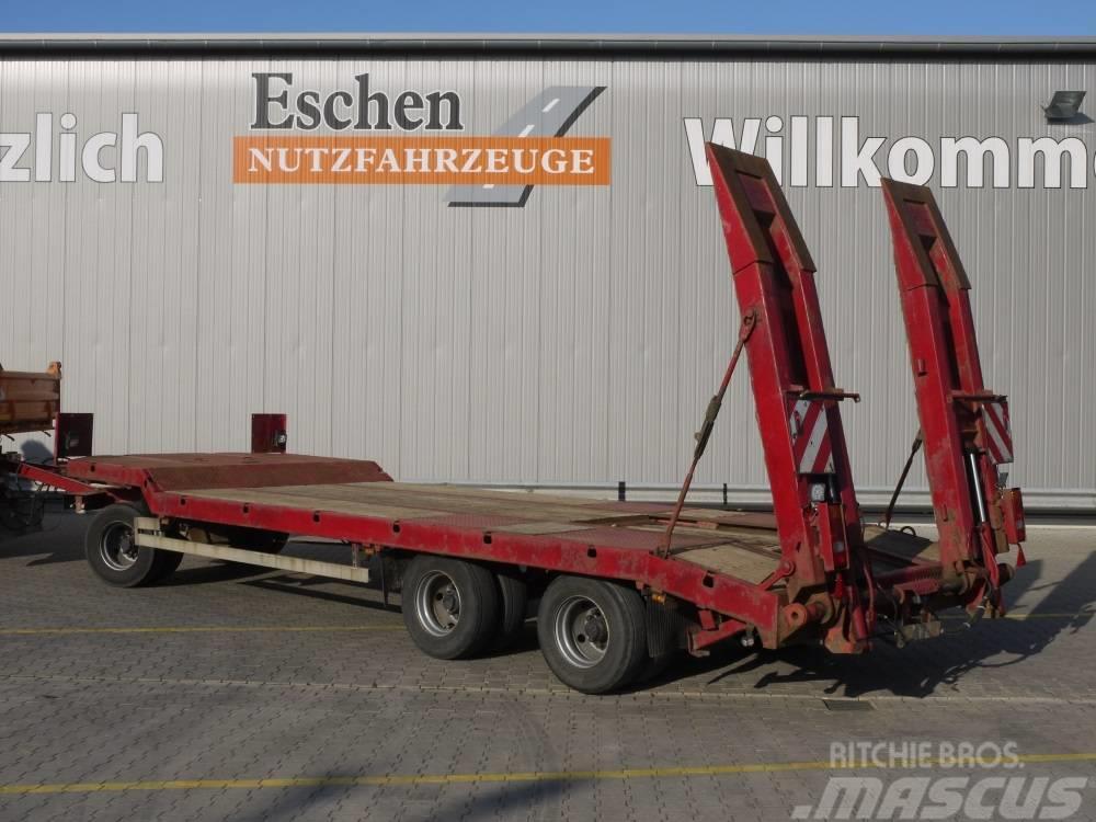 Langendorf TUE 24/100 3 Achs Drehschemel Tieflade Anhänger