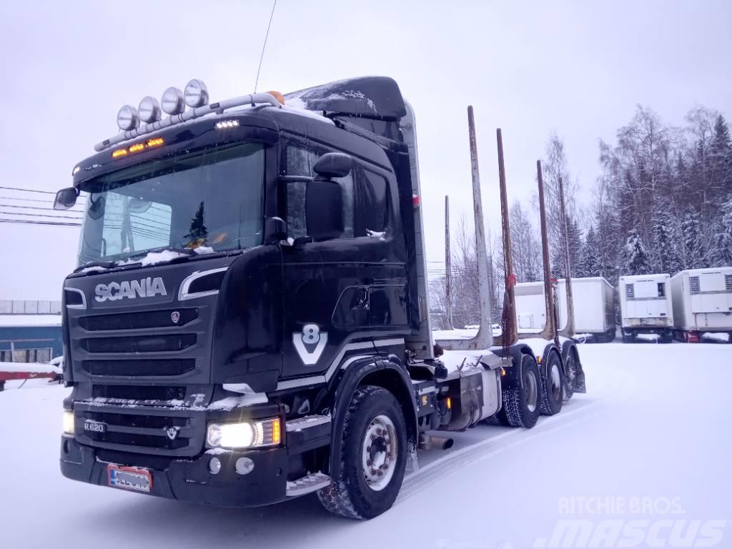 Scania R620 8x4 puuvarustus,manuaali