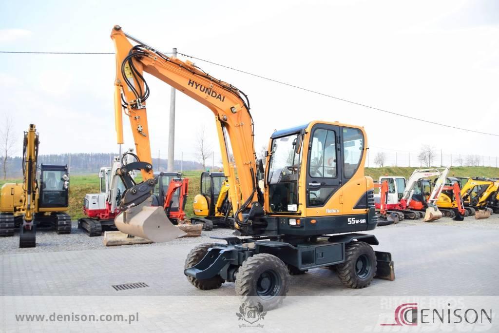 Hyundai Robex 55 W-9A + hammer