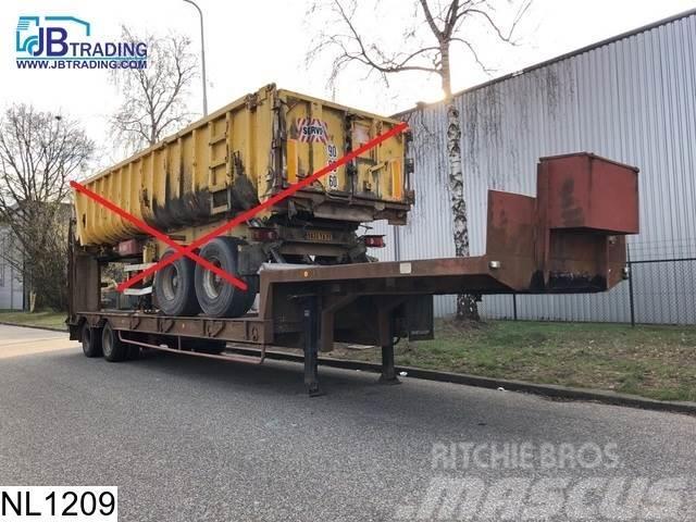 Fruehauf Lowbed 38000 KG, Lowbed, Steel suspension