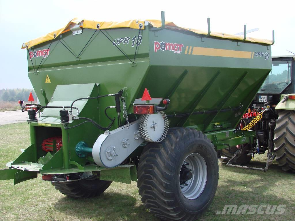 Pomot UPR 10 tones fertilizer and lime spreader, DIRECT