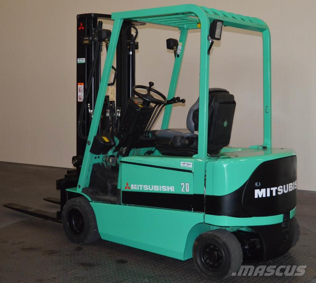Used mitsubishi fb20kc electric forklift trucks year for Forklift electric motor for sale