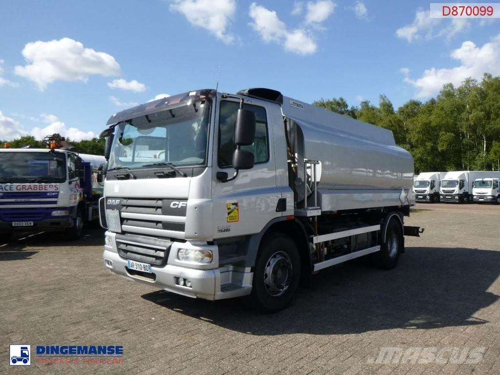 DAF CF75.250 fuel tank truck 13.6m3 / 4 comp