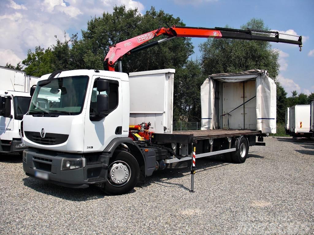 Renault Premium 280.19 HDS Crane KRAN FASSI Tilt AC