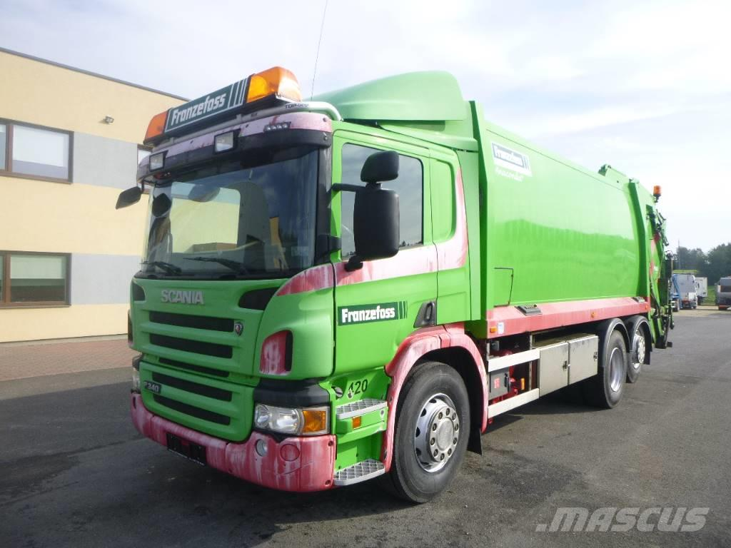 Scania P340 6x2+JOAB PRESS+WINCH