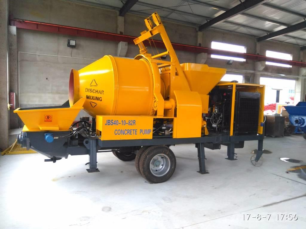 [Other] 40 m³/h Diesel Concrete Pump with Mixer - Sinotep