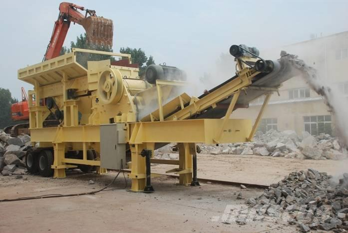 White Lai Mobile Jaw Crusher Crushing Plant WL1349E1012