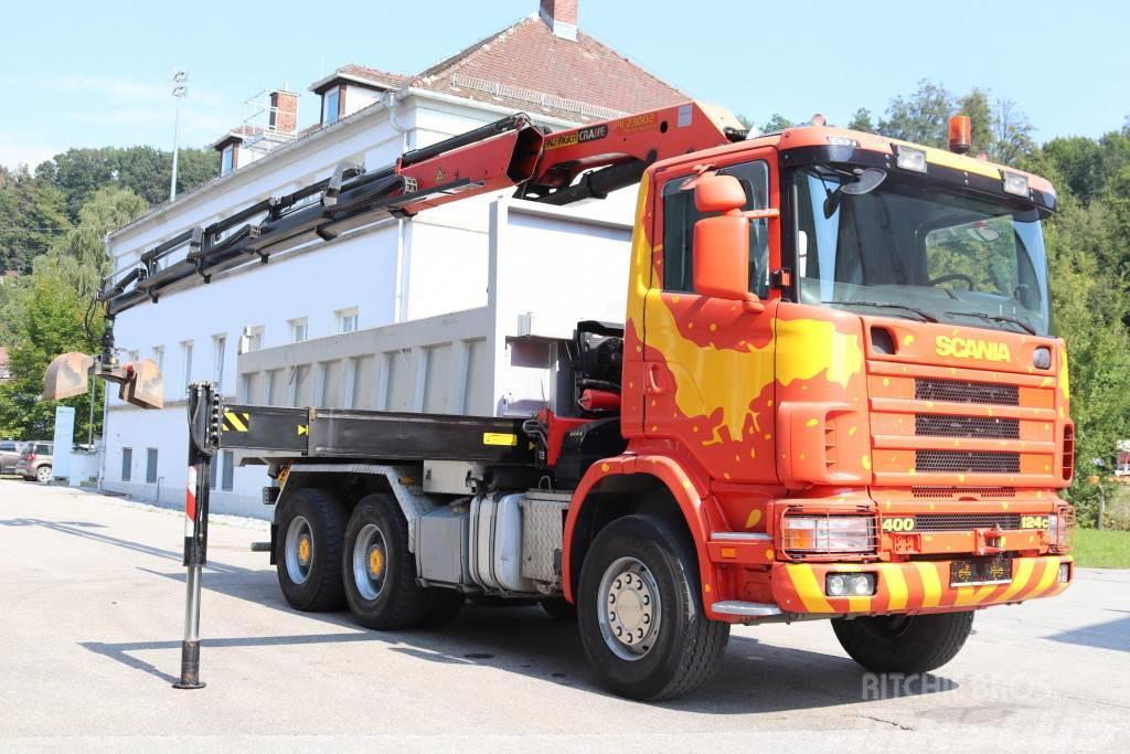 Scania 124.400 6x4 Kipper Kran PK23002 BJ 2009 Funk