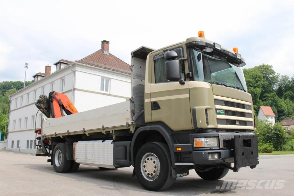 Scania 124.420 Kipper Kran Palfinger 20002 Fernbed.
