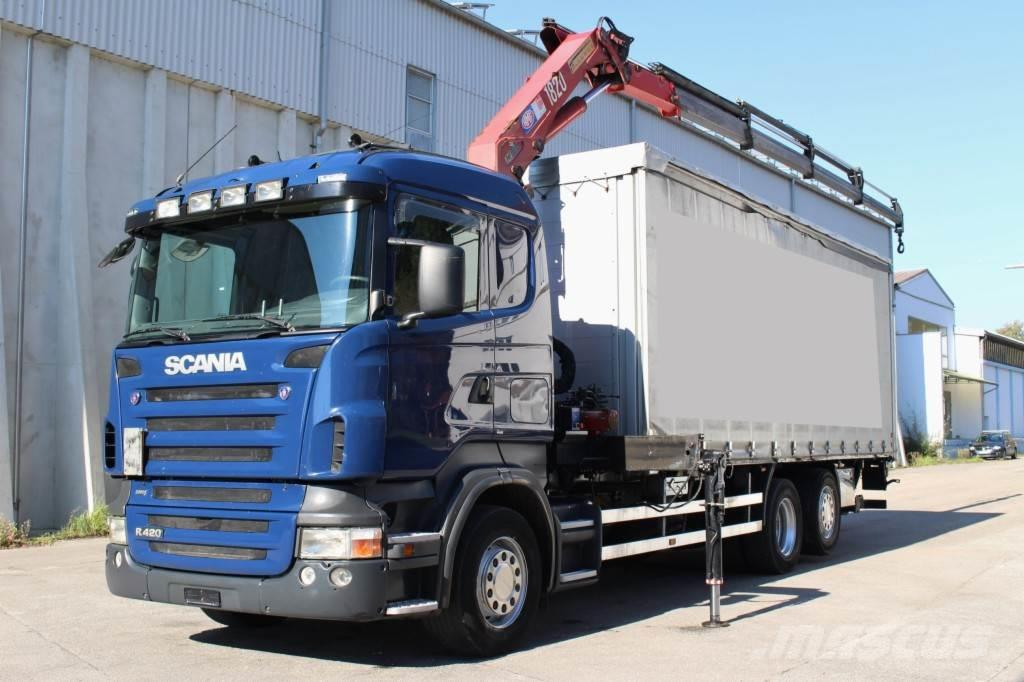 Scania R420 6x2 Euro5 Kran HMF 1820 Funk Leasing