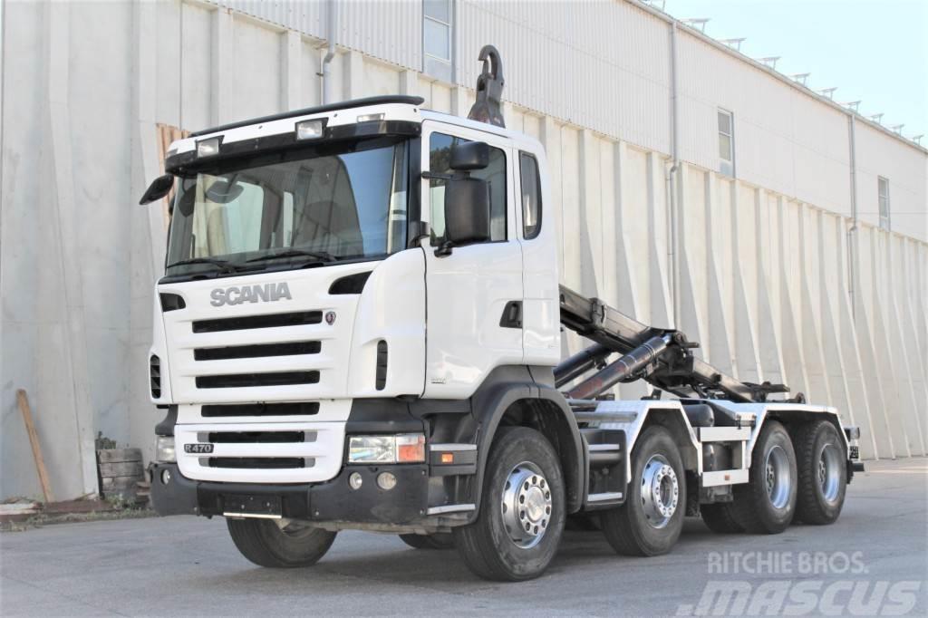 Scania R470 8x4 Euro4 Manuell Retarder Palift