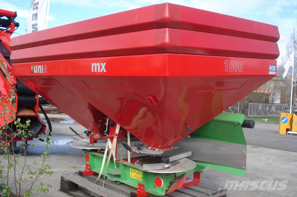 Unia MX PREMINIUM 1600, 2016, Mineral spreaders