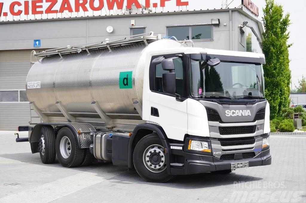 Scania P410 , E6 , 6X2 , 20k km , 2units , Milk tank