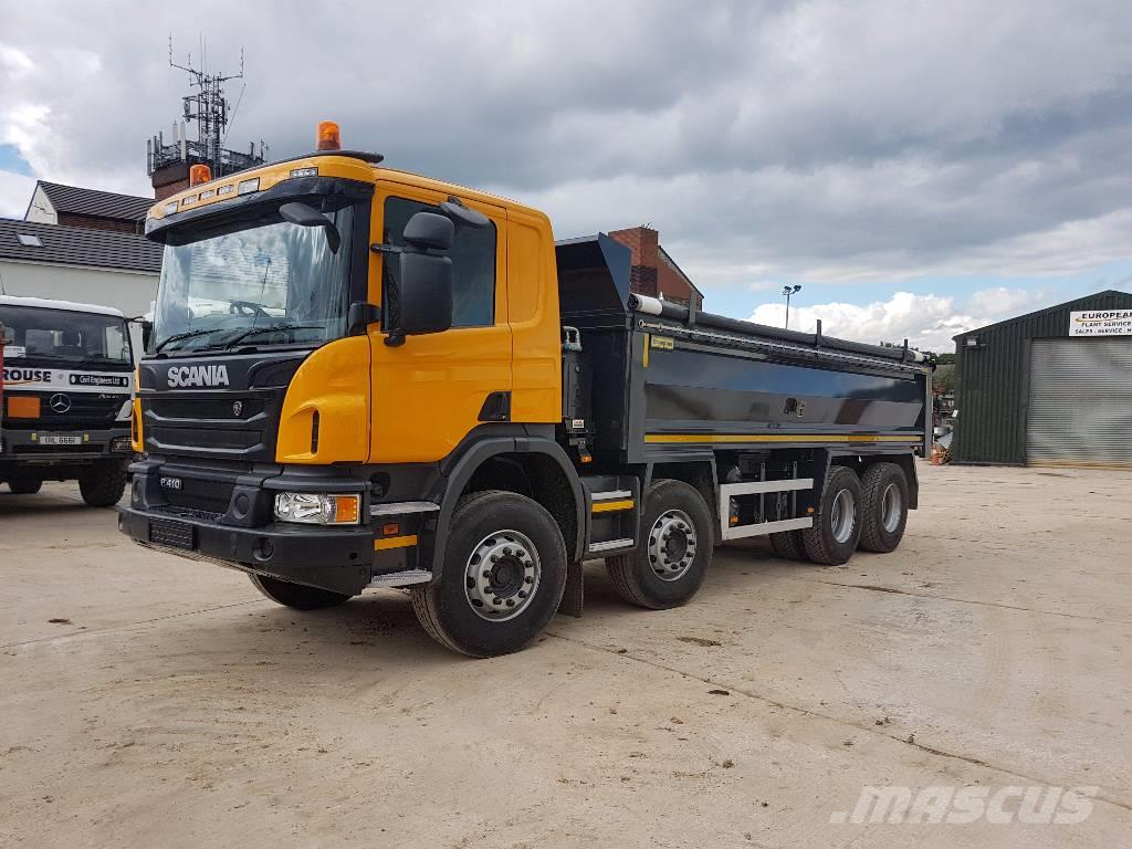 used scania p 410 dump trucks year 2017 price 135 991 for sale mascus usa. Black Bedroom Furniture Sets. Home Design Ideas