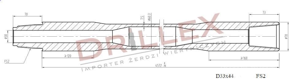 Vermeer D33x44,D36x50 FS2 4,5m Drill pipes, żerdzie