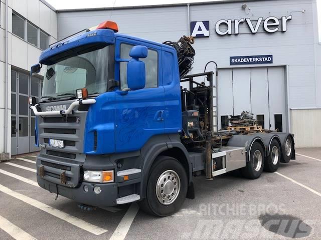 Scania R400 8x4*4 lastväxlare Kran 550 000:-