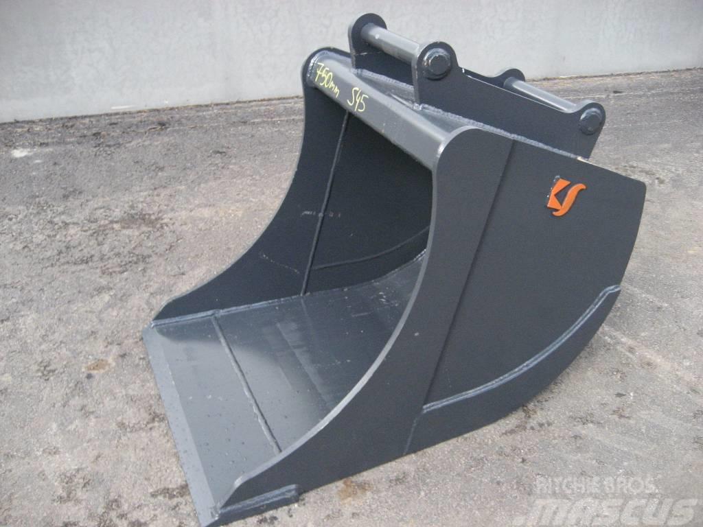 [Other] Kuokkakauha 750mm Kärsä S45-sovitteella, 6-9tn kon