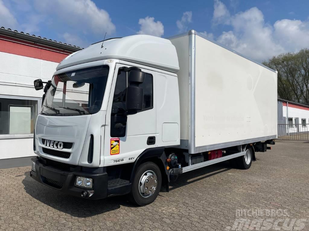 Iveco ML75E18 Doppelkabine Koffer Ladebordwand 1000 kg K