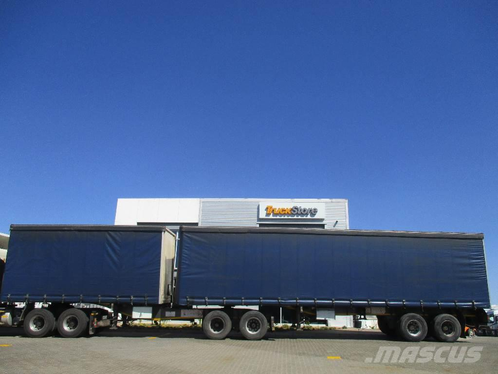 Commercial Trailer Unit : Used tautliner interlink semi trailer tractor units year
