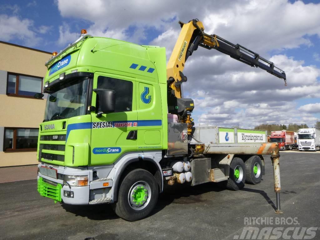 Scania R144 6x4+CRANE PALFINGER PK27000+KOMBI