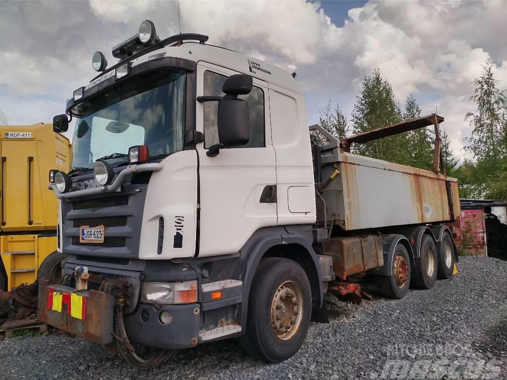 Scania R470 8x2 rautajouset, täyd.aurausvarustus