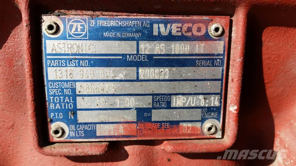 Iveco Astronic 12AS-1800IT, Växellådor