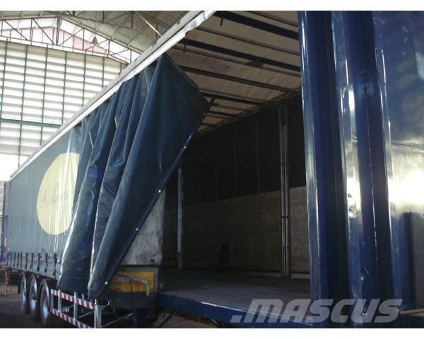 Used -curtain-side containerframe semi-trailers Year: 2006 ...