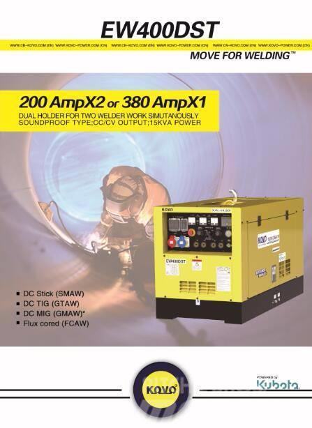 Kubota diesel welder generator EW400DST