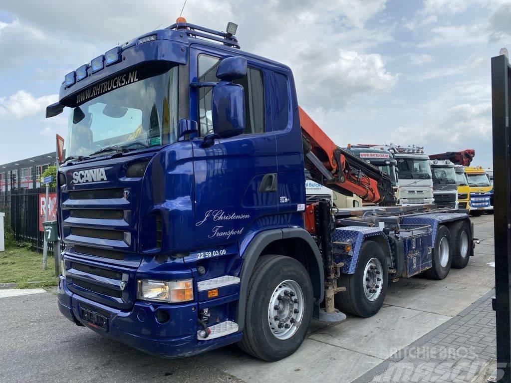 Scania R500 V8 8X4 + DAMAGED CRANE - PALFINGER PK29002 ME