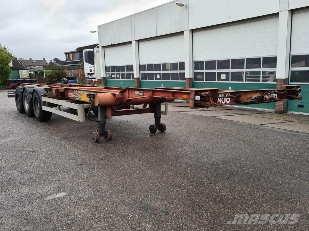 Van Hool Container chassis 3-assig / 40ft. / 30ft. / 20ft.