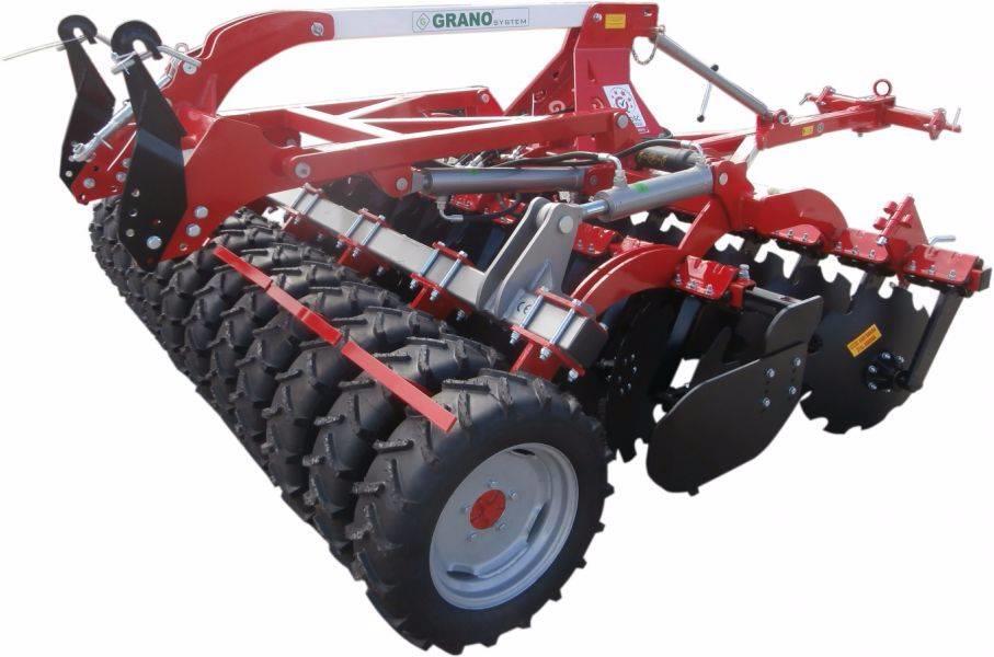 48 Disc Harrow : Top agro grano disc harrow lift tires roller m til