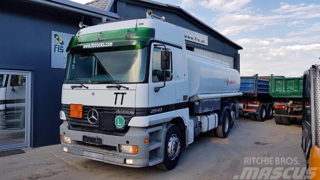 Mercedes-Benz ACTROS 2543 6x2 diesel tanker 17500liters