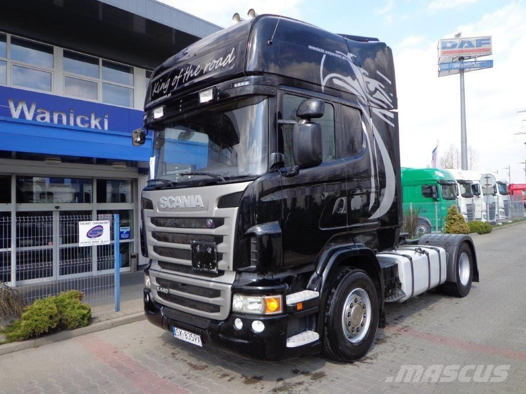 used scania r440 2011 topline standard euro 5 bez adblu tractor units year 2010 price 32 477. Black Bedroom Furniture Sets. Home Design Ideas